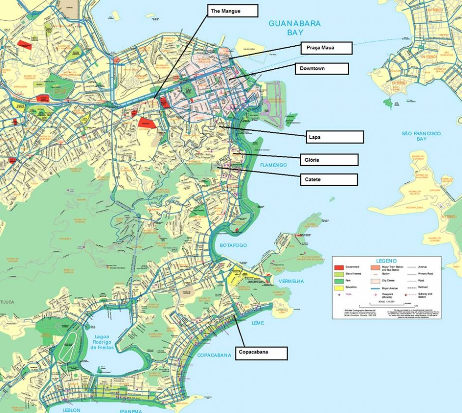 Blanchette_Map of Rio de Janeiro 2012